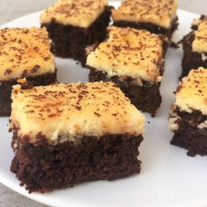 high tea - cheesecake brownie