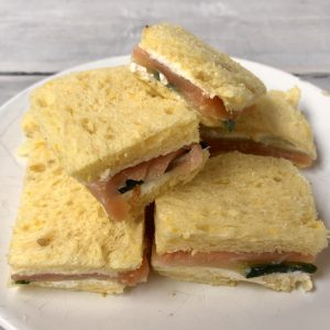 high tea - sandwich zalm