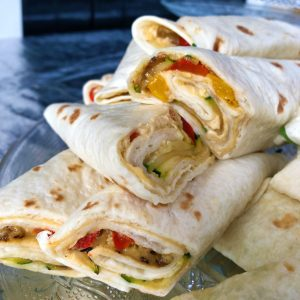 high tea - wraps hummus